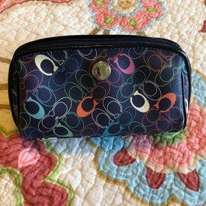 Coach makeup leather case